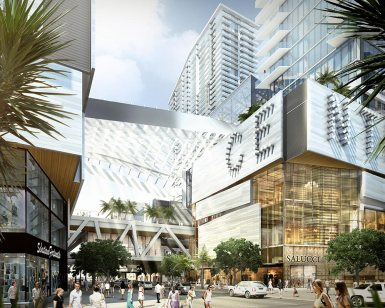 Shoppers at Brickell City Center, opening end of 2015