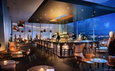 One River Point bar lounge render