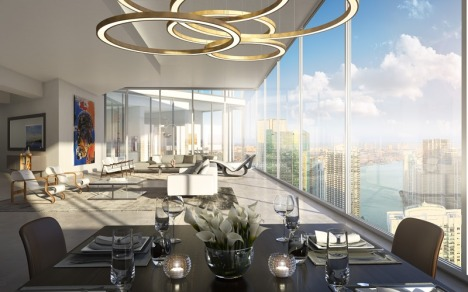 One River Point dining render