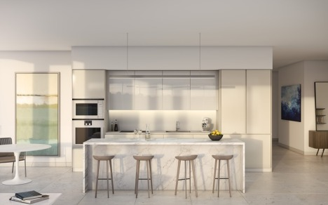 One River Point kitchen render
