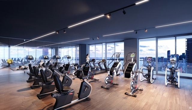 Auberge Miami gym render small