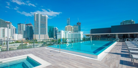 Rooftop infinity edge pool