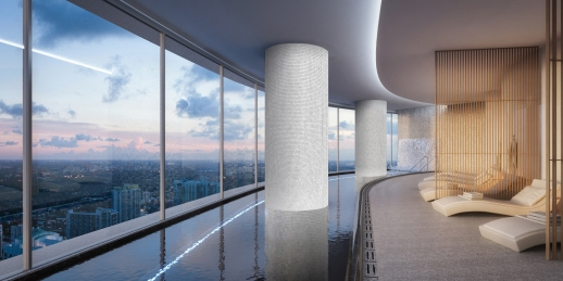 Panoramic indoor pool