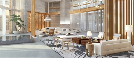 Auberge Beach Residences & Spa lobby
