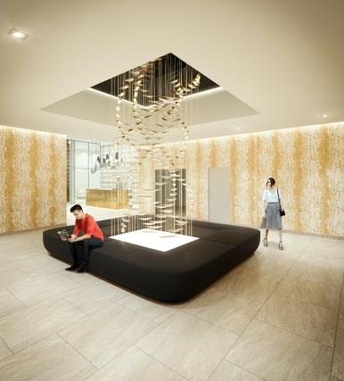 Lobby lounge render