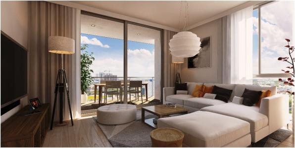Naranza Unit D Living & Balcony