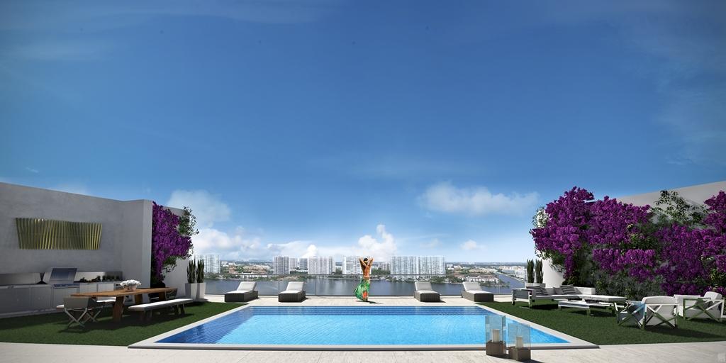 Penthouse Balcony Pool