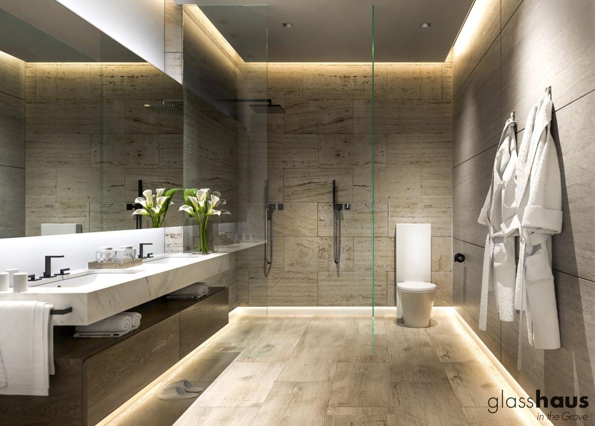 Glasshaus Master Bathroom