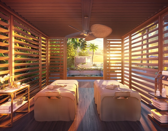 57 Ocean treatment cabana