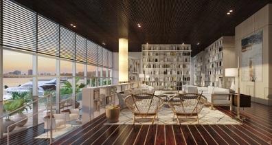 Monaco Yacht Club lobby