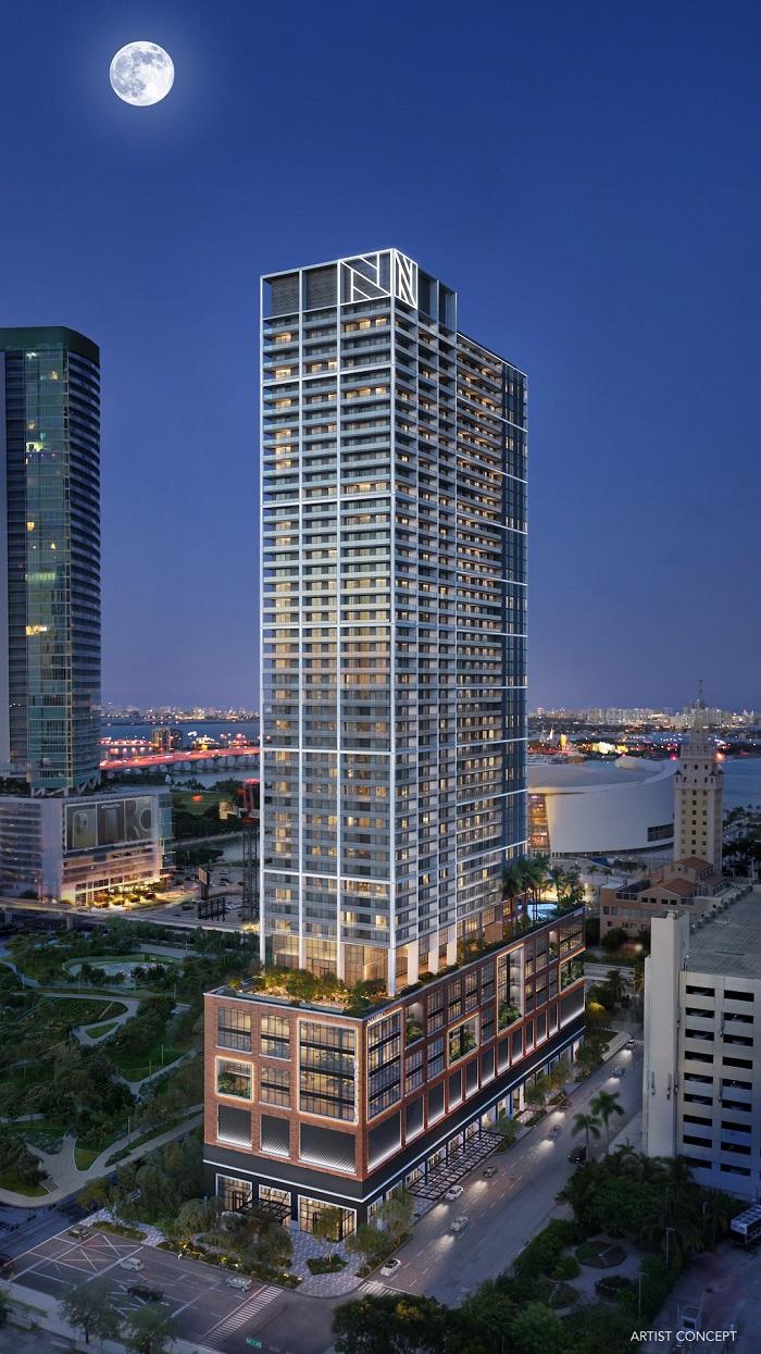 Natiivo Miami building night render small