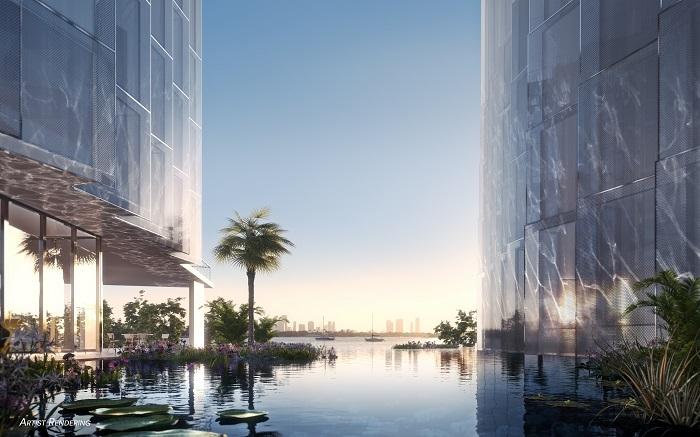 Monad Terrace lagoon render