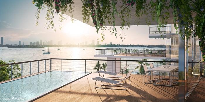 Monad Terrrace outdoor terrace render