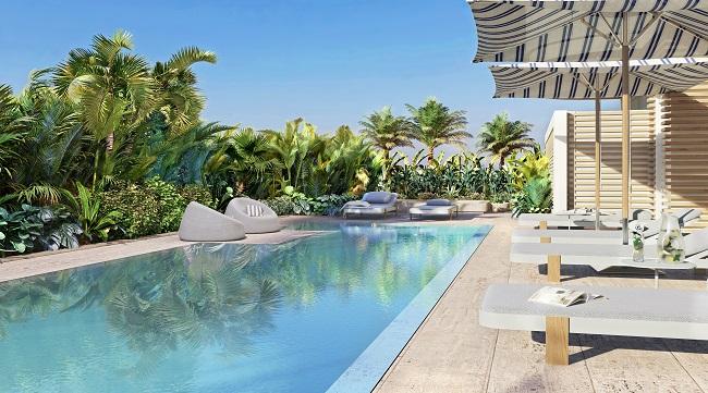 Ocean Park pool loungers